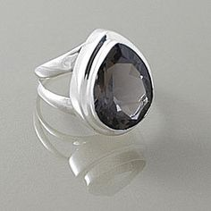 #Overstock                #ring                     #Sterling #Silver #Faceted #Smokey #Quartz #Almond #Drop #Ring #(Indonesia) #Overstock.com              Sterling Silver Faceted Smokey Quartz Almond Drop Ring (Indonesia)   Overstock.com                                                http://www.seapai.com/product.aspx?PID=1770330