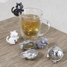 """I NEED a tea infuser, and after several minutes looking I've found the purrrrrfect one for me!! Sevy Pekoe Tea Infuser Cat and Fish """"meow"""" Asstd. 