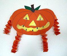 Gespensterkürbis mit Hexentreppe - Halloween-basteln - Meine Enkel und ich