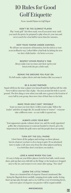 Golf Tips For Women 10 Rules for Good Golf Etiquette Golf Tips - At What Point is it Wise to Get a Golf Caddy? Can Improving Golf Swing Mechanics Improve Your Golf Game? Golf Putting Tips - 3 Golf Putting Tips to Help You Instantly Improve Your Putts! Golf Handicap, Golf Etiquette, Golf Training, Baseball Training, Training Equipment, Basketball Tricks, Volleyball Tips, Golf Putting Tips, Golf Tips For Beginners