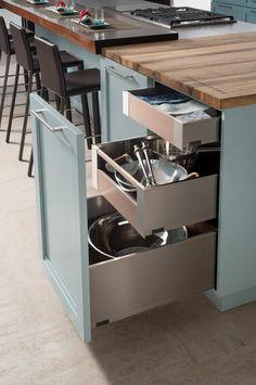 Kitchen Drawers Ideas That Will Amaze You Kitchen Drawers, Kitchen Storage, Kitchen Cabinets, Wood Mode, Kitchen And Bath Design, Kitchen Designs, Kitchen Ideas, Wooden Drawers, Storage Design