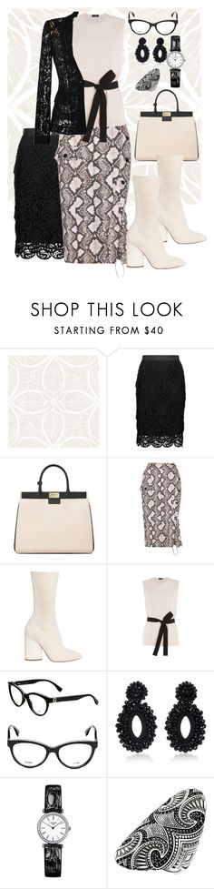 """Snake and Lace"" by babygirltrice ❤ liked on Polyvore featuring Miguelina, Aspinal of London, Altuzarra, Joseph, Fendi, Bibi Marini, Longines, Thomas Sabo and Moschino"