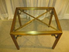 (FAB!) Hollywood Regency Brass Parson Chinese Tables Mastercraft Attributed | eBay