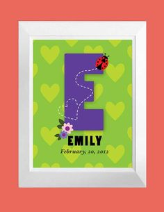 Nursery Print with Child's Name Birth Date and by DIGITALTOASTER, $19.00