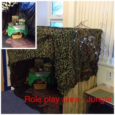 Current role play area in reception. Contains writing materials, animal mask, animal jigsaw and jungle animal books. Role Play Areas, Eyfs Classroom, Animal Masks, Jungle Animals, Reception Ideas, School Stuff, Writing, Books, Libros