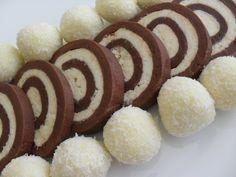Rulada de biscuiti cu nuca de cocos