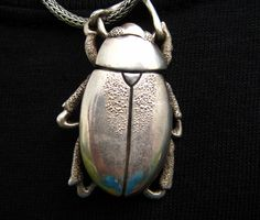 Scarab Beetle in Sterling Silver. $250.00, via Etsy.
