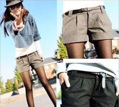 Straight Woolen Bootcut Shorts
