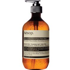 Aesop hand wash: the packaging is gorgeous, the scent fills the whole room and it lasts forever.