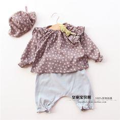 2015 весной новые корейские новорожденных девочек, детская 0-3 лет дети комфортно мило Вава Шаня костюм