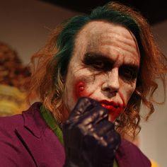 A wax sculpture of Joker from Grand Orient Wax Art Wax Statue, Wax Art, Wax Museum, Madame Tussauds, Joker, Hollywood, Cosplay, Sculpture, Celebrities