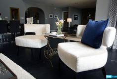How chic are these chairs? Just another great find by Jeff Lewis on Interior Therapy.