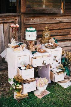 Alice in Wonderland Wedding Inspiration Ruffled