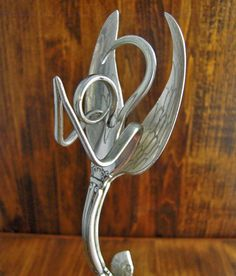 Fork Angel Sculpture, Eco-Friendly Recycled Silverware Art - Blenheim on Etsy, $74.95
