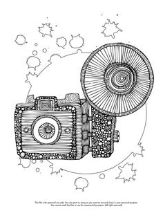 Photography Tribal Camera In Photography Coloring Page Fashion