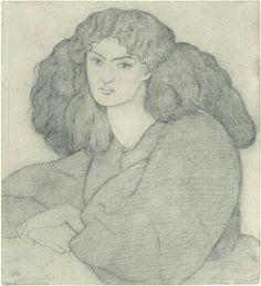 Jane Morris by Dante Gabriel Rossetti 1860