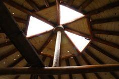 vista interior do teto