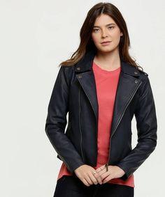 Jaqueta de couro feminina preta compre online, ótimos
