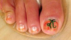Pumpkin pedicure