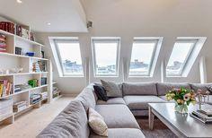 modern attic window
