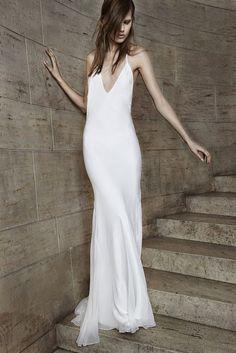 plunging slip wedding gown ~ Vera Wang spring '15