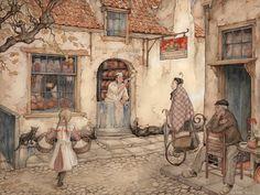 Anton Pieck(Dutch artist 1895ー1987)「The Bakery」