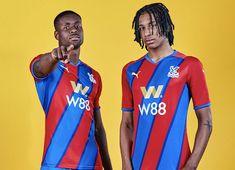 Puma Football, Football Kits, Sports Shops, Jd Sports, Crystal Palace, Blue Stripes, Red And Blue, Soccer Kits, Soccer Equipment