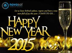 The countdown has begun and it is the time to welcome NEW YEAR 2015! Best wishes from http://www.novosol.biz/