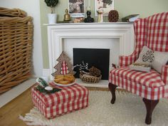 inspiration: fireplace from halved picture frame