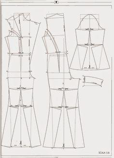modelist kitapları: 4 IL MODELLISMO Pattern Drafting Tutorials, Dress Sewing Tutorials, Skirt Patterns Sewing, Clothing Patterns, Pattern Making Books, Pattern Books, Free Printable Sewing Patterns, Tailoring Techniques, Modelista
