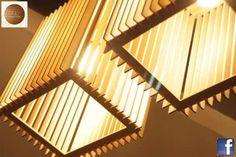 Lampara Colgante De Diseño En Madera Mdf