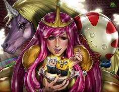 An illustration where Princess Bubblegum is the star of Adventure time, I hope you like my work, do not forget to leave your comments, Cheers DESSERT TIME Angelina Jolie Movies, Land Of Ooo, Disney Maleficent, New Movies, Adventure Time, Princess Zelda, Drawings, Dessert, Anime