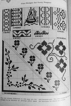 Filet designs for every purpose - Richardson's New Designs in Filet Crochet, 1917. p16.