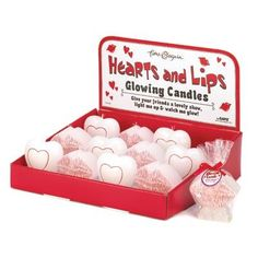 Hearts And Lips Glow Candles via AC TREASURES. Click on the image to see more!