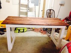 Craft table I made for my mother! Find me on Facebook at French's Salvage.