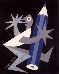 Fortunato Depero (1892-1960, Italy), 1929, Pencil-bay, for Venus Pencil, New York, Collage, Private Collection.  ©Eredi Depero #Futurism