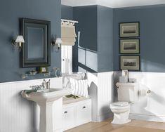 beadboard bathroom blue - Google Search