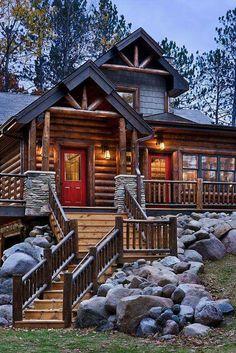 Love this log home.