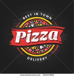 stock-vector-pizzeria-vector-emblem-on-blackboard-pizza-logo-template-vector-emblem-for-cafe-restaurant-or-635547866.jpg (450×470)