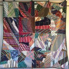Vintage 1950s Strip Quilt Turkey Track Stitching Huge Variety Fabrics Silk Blend | Collectibles, Linens & Textiles (1930-Now), Quilts | eBay!