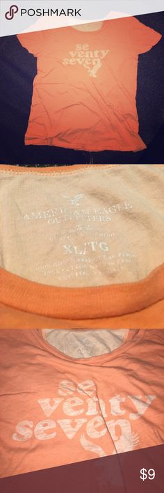 American Eagle Tee Soft and snuggle-worthy, melon 🍉 orange ladies tee American Eagle Outfitters Tops Tees - Short Sleeve