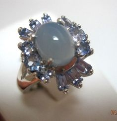 Sterling Silver Moonstone Ring Size 7 1/2 #Unbranded #Personality