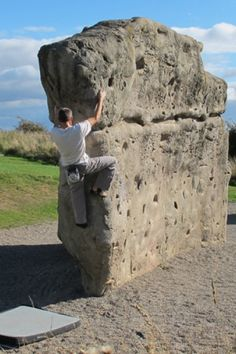 Primarily used in the design and construction of exterior climbing structures, including free standing climbing boulders, the shell concrete system can recreate any rock type or style of climbing. Indoor Climbing, Climbing Wall, Rock Climbing, Bouldering Wall, Fake Rock, Hair Styles For Women Over 50, Ropes Course, Playground Ideas, St Thomas