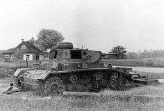 Broken Pz.Kpfw.III Ausf.G of the composition of the 17-th tank division, summer 1941.