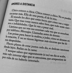 Amores a distancia...