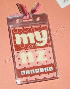 How to make an ID Badge Holder Mini Album by Scrapbook-Crazy