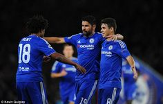 Chelsea celebrate a goal against Tel Aviv