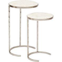 Nested Tables, Bone Veneer - $659.00