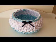 penye ipten sepet yapımı ( bombeli ve yuvarlak sepet modeli) - YouTube