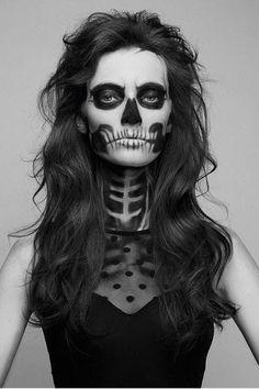 SKELETON HALLOWEEN MAKEUP   Halloween/Thanksgiving   Pinterest ...